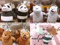 We Bare Bears / Webarebear / Plush / Softtoy / We Bare Bears Keychain / Toys / Key Chain