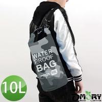 【OMORY】OMORY圓筒超輕量單肩防水袋/漂流袋10L-迷彩