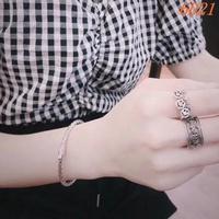 BOTTEGA VENETA s925純銀打造 新款簡約編織手鐲 女款 bv爆款手環