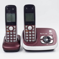 New Color Dect 6.0 Call ID Digital Cordless Phone With Answer System Wireless Base Station Cordless Fixed Telephone For Office