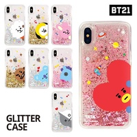 【BT21 x LINE FRIENDS】 BTS BangTan iPhone Galaxy Glitter Case GIFT!