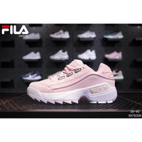 Autumn winter warm running sports shoes FILA Disruptor II 2 Womens pink Sneakers