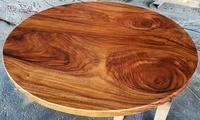 【原味手工家具】黑桃木圓桌板-台南 原木 家具