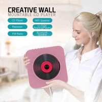 DXY CD Player with Bluetooth Portable CD Player Wall Mountable Remote Control FM Radio HiFi Speaker - intl