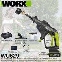 WORX WU629 Cordless Hydroshot Portable Power Cleaner 20V Li-ion (4.0Ah) 320psi