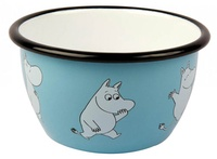 【芬蘭Muurla】嚕嚕米系列-嚕嚕米琺瑯碗600cc(藍色)