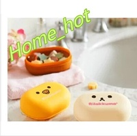 10pcs Cute bear Home Furnishing easily portable sealed soap box waterproof travel with cover not Wat