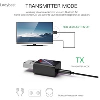 LDBT_2 in 1 USB Bluetooth 5.0 Transmitter Receiver AUX Audio Adapter for TV/PC/Car