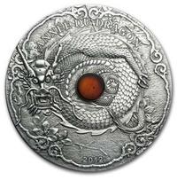 天幹地支龍銀幣1,500 Francs CFA Amber auc-noguchicoin