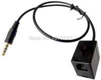 Free Shipping Female RJ9 jack to Smartphone male 3.5MM plug RJ9 headset for Nortel AVAYA 2400 4600 series  Mitel hones:
