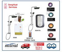 Mistral Instant Water Heater With Rain Shower Set