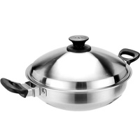 Chinese stainless steel wok multi-purpose steamer wok steaming