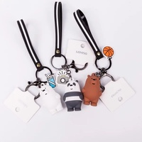 Miniso We Bare Bears Vinyl Keychain kids Toy