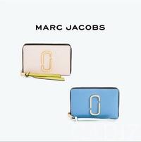 美國正品 Marc jacobs  Snapshot Small Stan 藍色粉色簡約拉鍊長夾