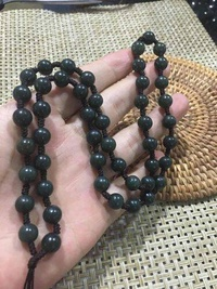 Xinjiang and farmland jade green jade necklace male arrogant circle the bead chain mourn to fall to jade to hang a rope - intl