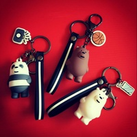 [In Stock] We Bare Bears Keychain Panda Ice Bear Grizzly