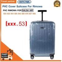 พลาสติกใสคลุมกระเป๋าแบบซิป เฉพาะแบรนด์ RIMOWA SALSA AIR  / Travel Partner PVC for RIMOWA SALSA AIR  Luggage Sets Cover Protector Clear PVC Suitcase Case Protective with Grey Zipper