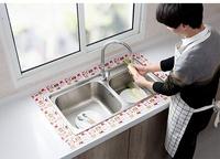 自粘廚房水槽洗漱臺防水貼洗菜盆美縫吸水貼浴室馬桶玻璃吸濕貼紙 夏洛特