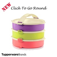Tupperware Click To Go Round Lunch Box