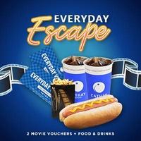 [Cathay Cineplexes] EVERYDAY Movie Package (2 Weekday Movie Vouchers + Mini Popcorn & Chicken Hotdog + 2 22oz Soft Drink) Cinema/Promotion/Bundle Deal/Movie Ticket Voucher/F&B Voucher/Food Voucher/Movie Combo/Food Combo/Drinks Combo/Gift Voucher