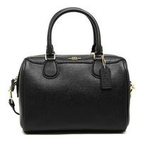 กระเป๋าทรงหมอน 9 นิ้วCoach F32202 Mini Bennett Satchel In Crossgrain Leather สีดำ ของแท้