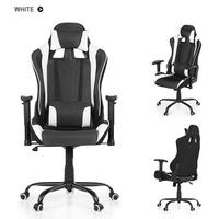 iKayaa Ergonomic Racing Style Gaming Office Chair Swivel Executive Computer Chair Bucket Seat W/ Rec
