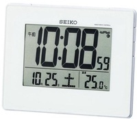 SEIKO CLOCK ( Seiko clock ) wall clock alarm clock combined digital radio clock SQ697W