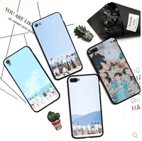 Apple iPhone5/5S/SE/6/6s/plus bulletproof youth group BTS South Korea couple black side phone case