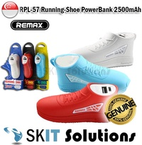 REMAX RPL-57 Mini Running-Shoe Portable Battery PowerBank USB Charger 2500MAh