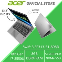 Acer Swift 3 SF313-51-898D 13.3-Inch FHD IPS with Intel i7 Processor and 4G LTE