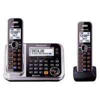KX-TG7871S Cordless Phone Digital Answering Machine Telephone Landline DECT 6.0 Plus 2 Handset