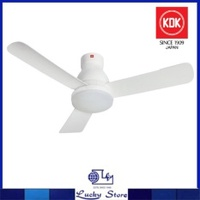 "KDK U48FP 48"" DC MOTOR CEILING FAN WITH LED LIGHT AND REMOTE (WHITE)"