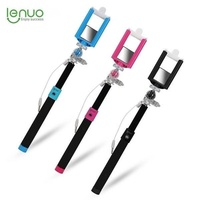 Lenuo DL-16 Wired Mini Cable Retractable Monopod Self-timer Holder for Xiaomi Samsung iPhone