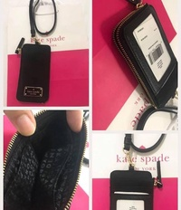 NWT KATE SPADE WILSON ROAD EDRIA LANYARD CARD CASE