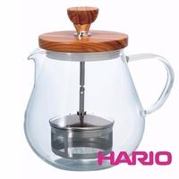 HARIO 橄欖木濾壓茶壺700ml TEO-70-OV