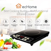 ecHome 2000W Infrared Cooker Household Mini Hotpot Soup Pot