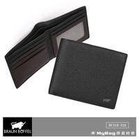 Braun buffel Small Gold Wallet mick Series 5 Card Transparent Window Ready bf318