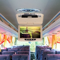 9 Inch Car Roof Mount Overhead Flip Down Monitor DVD CD Player Transmitter Games