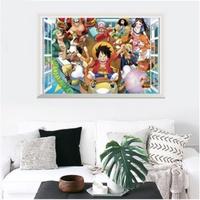 👼現貨~郵寄👼海賊王假窗戶⚓️創意壁貼 時尚個性 航海王魯夫 羅賓 娜美 羅 紅髮傑克 索隆 喬巴🍄重複撕貼PVC