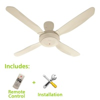 KDK Ceiling Fan 52inch with Installation, 4 Blades, Remote Control