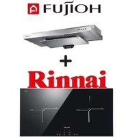 🚚 FUJIOH SLM900R SLIMLINE HOOD + RINNAI RB-7012H-CB 2 ZONE INDUCTION HOB WITH TOUCH CONTROL