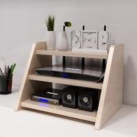 家用電視柜機頂盒置物架子路由器收納盒成人支架隔板擱板   電購3C