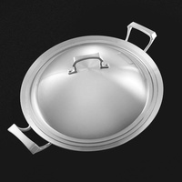 Lucuku Household 304 Stainless Steel Induction Cooker Universal Wok No Coating Dual Handle Large Size Cooking Cookware 36 Cm
