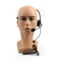 Areyourshop 5Pcs 4 Wired RJ9 Call Center Corded Operator Telephone Mic Headset Monaural Sil