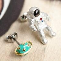 〔APM飾品〕日本Gargle 浩瀚星殞宇宙飛行員耳環 (抗過敏)