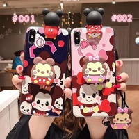 Cartoon Phone Case For VIVO Y91 V11i Y81 Y71 V9 V7 PLUS With Lanyard Bracket