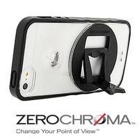 ★APP Studio★【ZeroChroma】美國設計師專利設計-小劇院可調式多角度保護殼《iPhone5/5S》專用  《VC晶透系列-低調晶透黑》