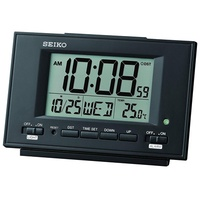 Seiko Digital Alarm Thermometer Clock QHL075K