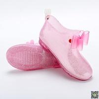 雨鞋 兒童水晶雨鞋男女大童防滑四季通用寶寶雨靴可愛學生幼兒小孩水鞋 小天使