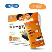韓國 智慧媽媽 BEBECOOK 嬰幼兒無鹽海苔~紅蘿蔔 10包入(12個月以上)好窩生活節